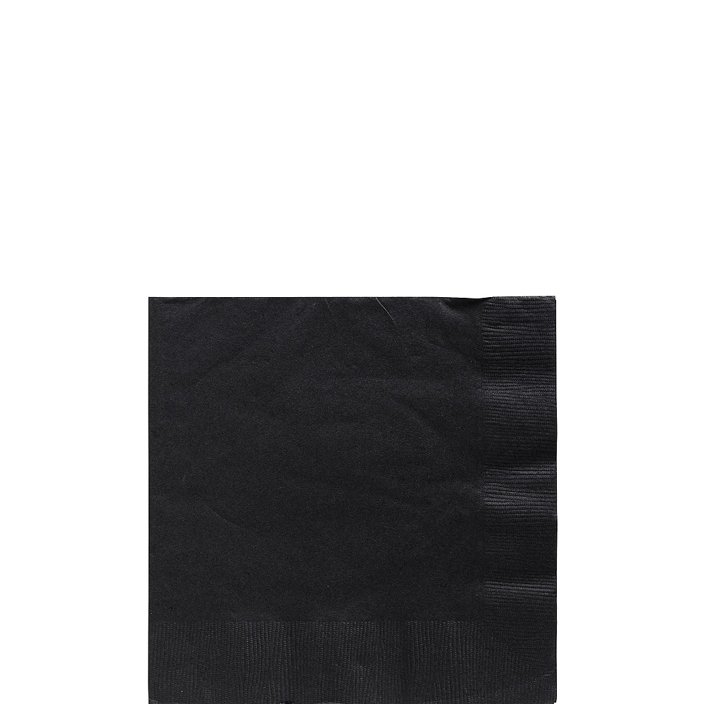 Black Paper Tableware Kit for 50 Guests Image #4