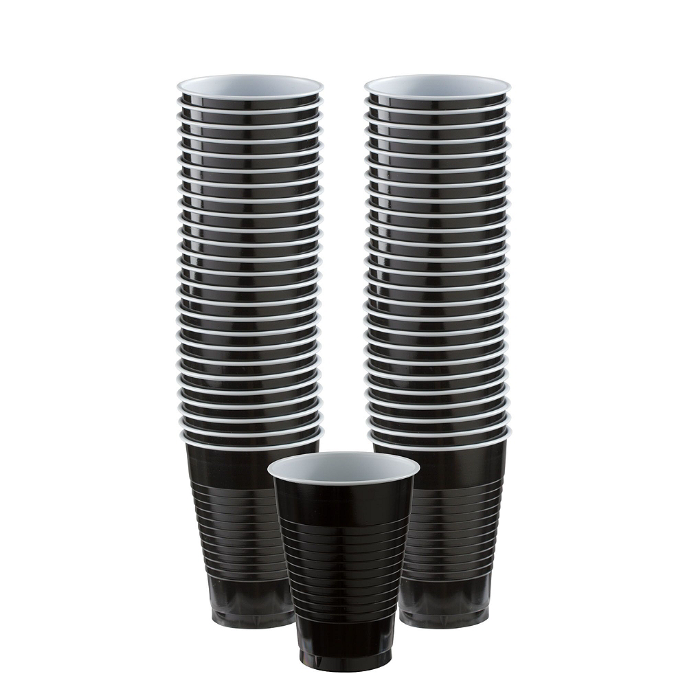 Black Paper Tableware Kit for 50 Guests Image #6