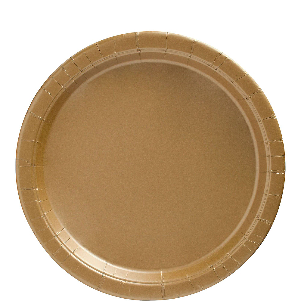 Gold Paper Tableware Kit for 50 Guests Image #3