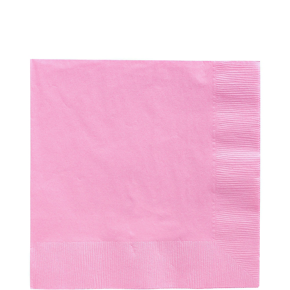 Pink Paper Tableware Kit for 50 Guests Image #5