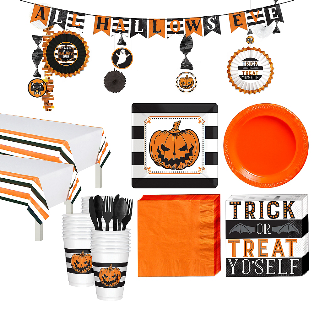 Super Hallows' Eve Tableware Kit for 36 Guests Image #1