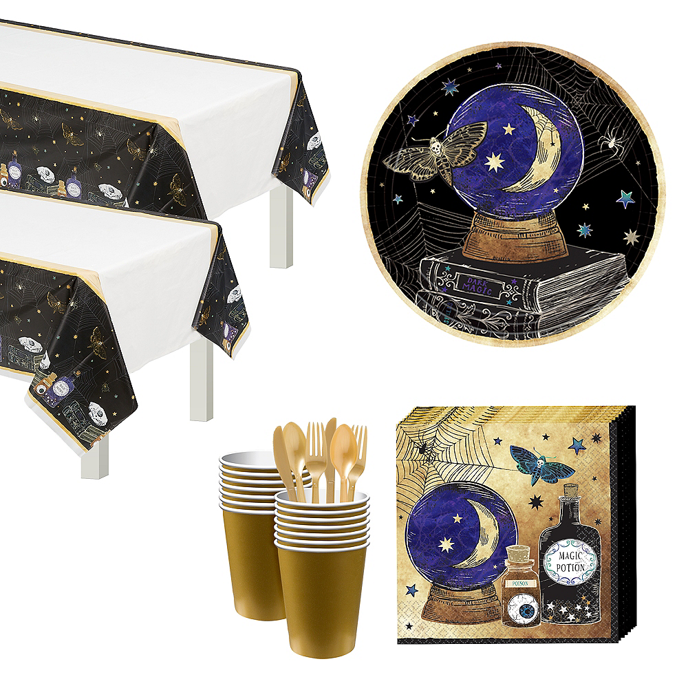 Spooks & Spells Tableware Kit for 16 Guests Image #1