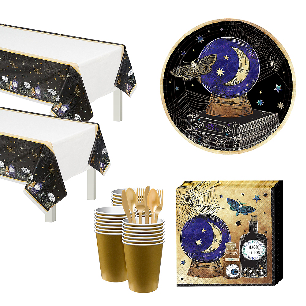 Spooks & Spells Tableware Kit for 32 Guests Image #1