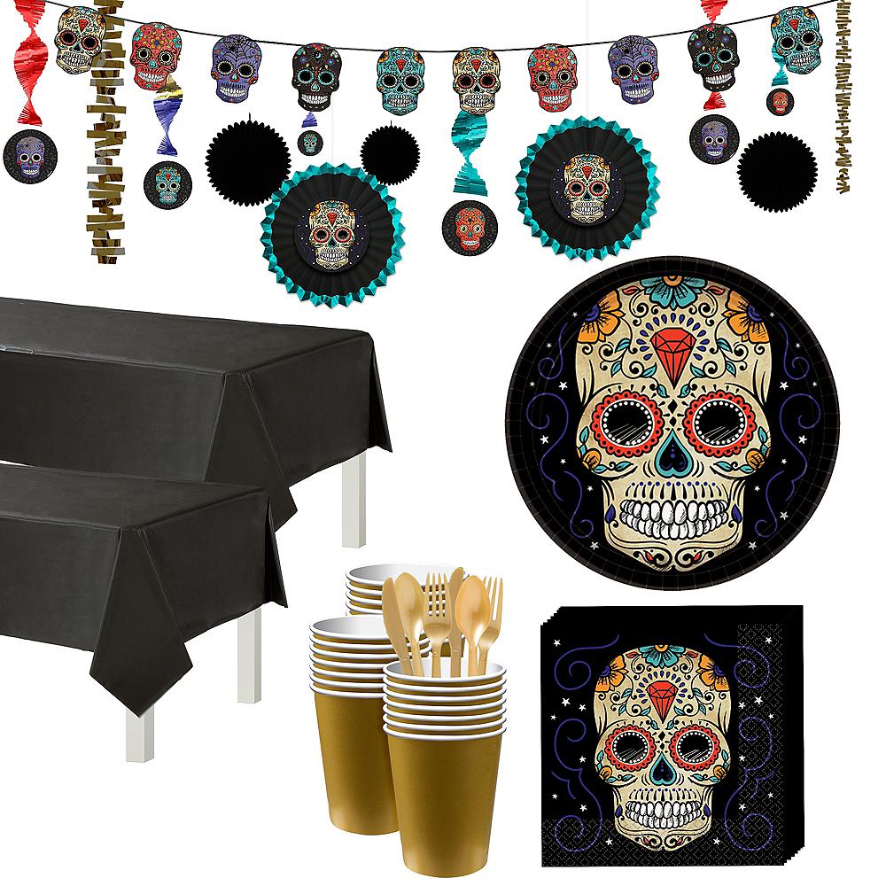 Super Sugar Skull Tableware Kit for 36 Guests Image #1
