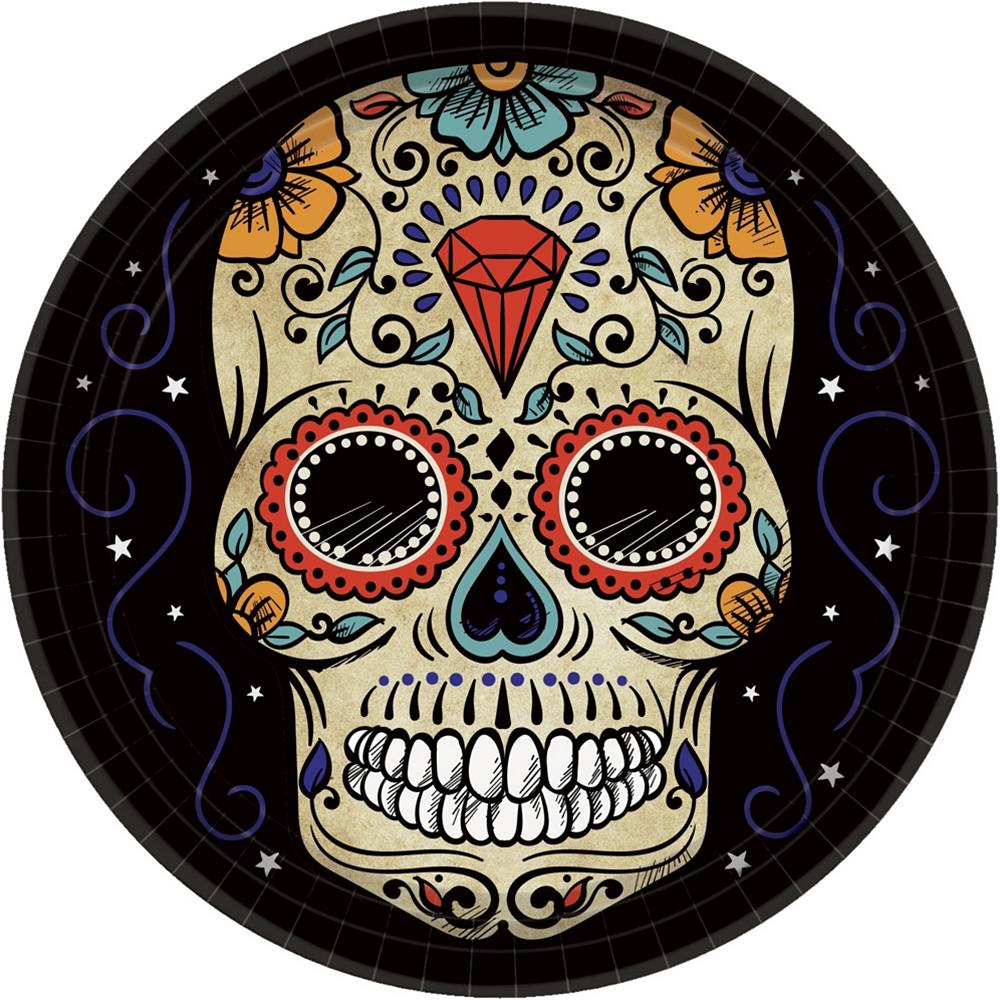 Super Sugar Skull Tableware Kit for 36 Guests Image #2