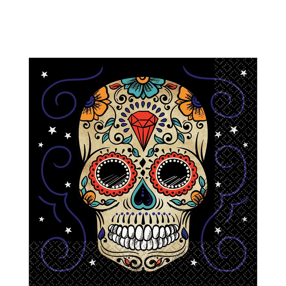Super Sugar Skull Tableware Kit for 36 Guests Image #3