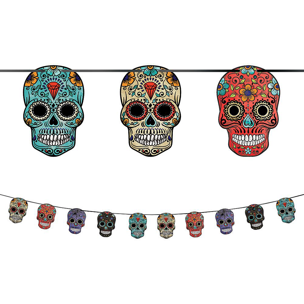 Super Sugar Skull Tableware Kit for 36 Guests Image #7