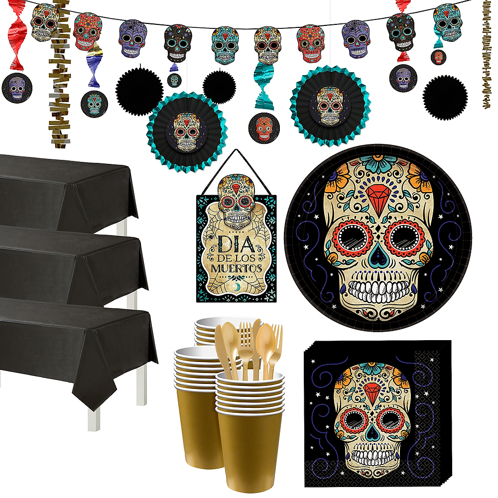 Sugar Skull Party Kit for 54 Guests Image #1