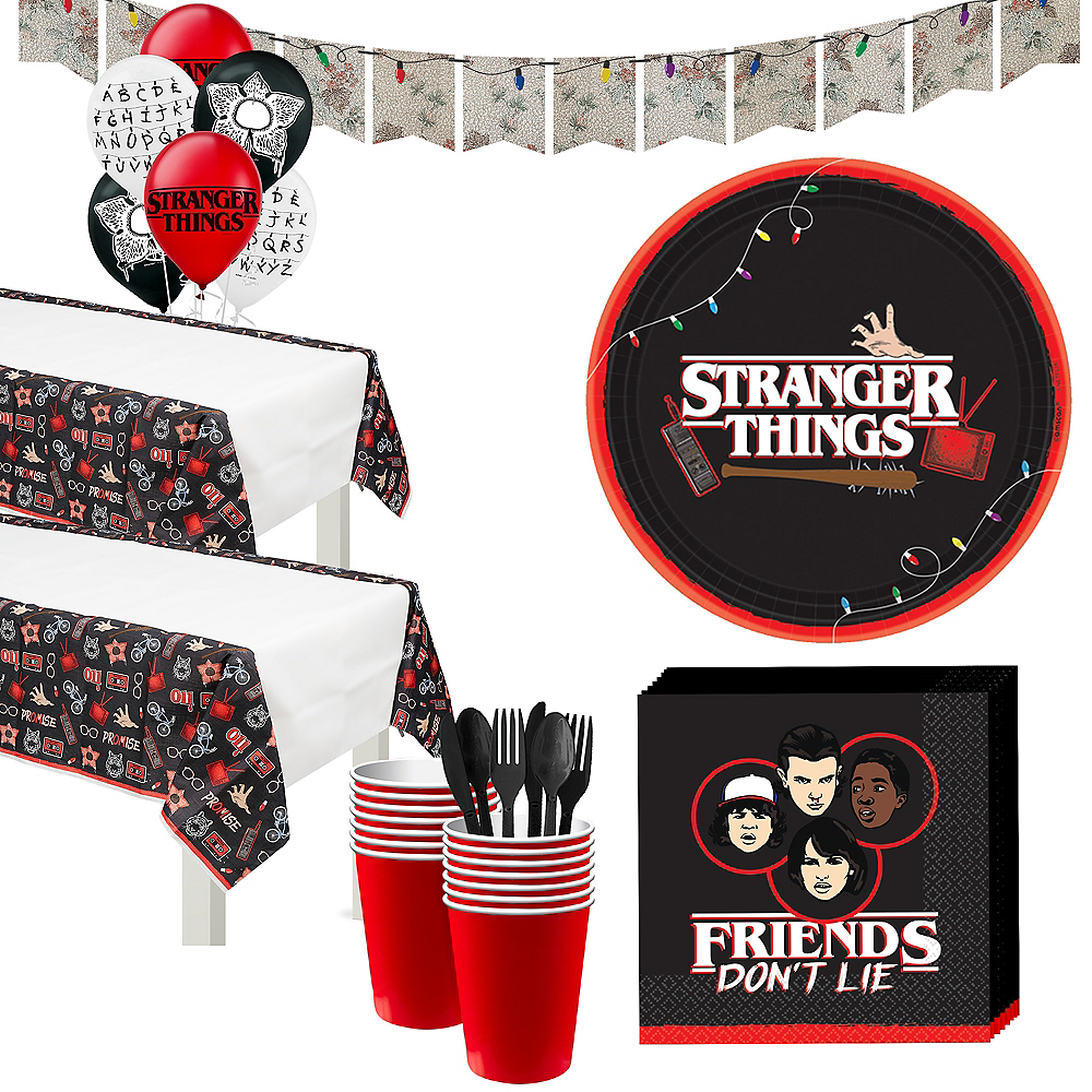 Stranger things tableware kit for 16 guests