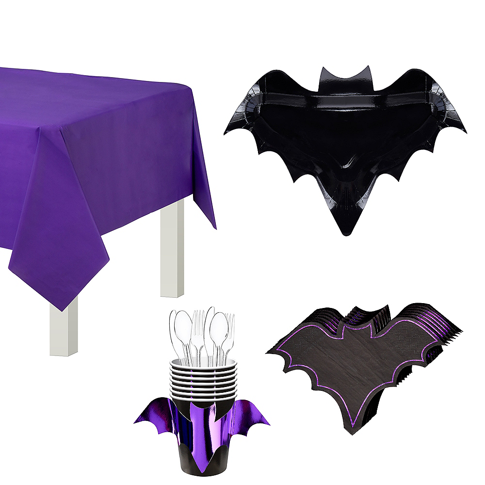 Ginger Ray Let's Get Batty Tableware Kit for 6 Guests Image #1