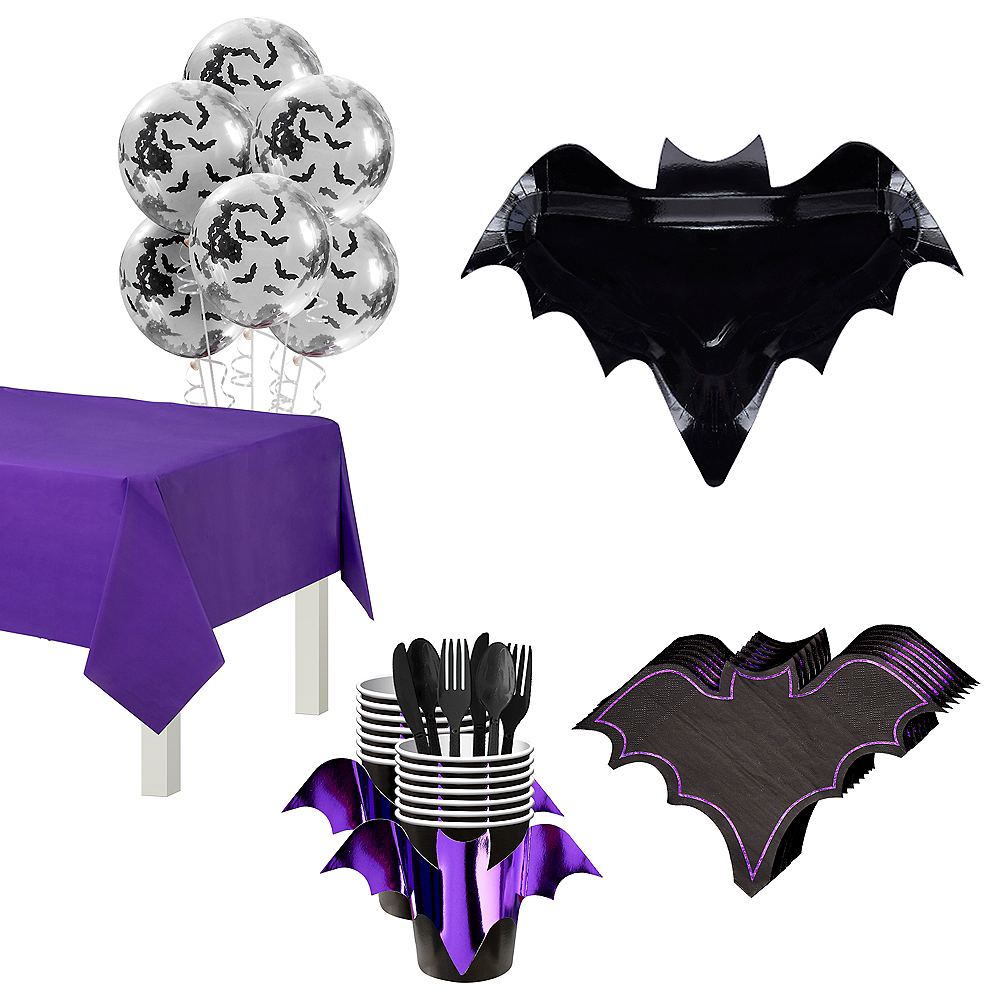 Ginger Ray Let's Get Batty Tableware Kit for 12 Guests Image #1