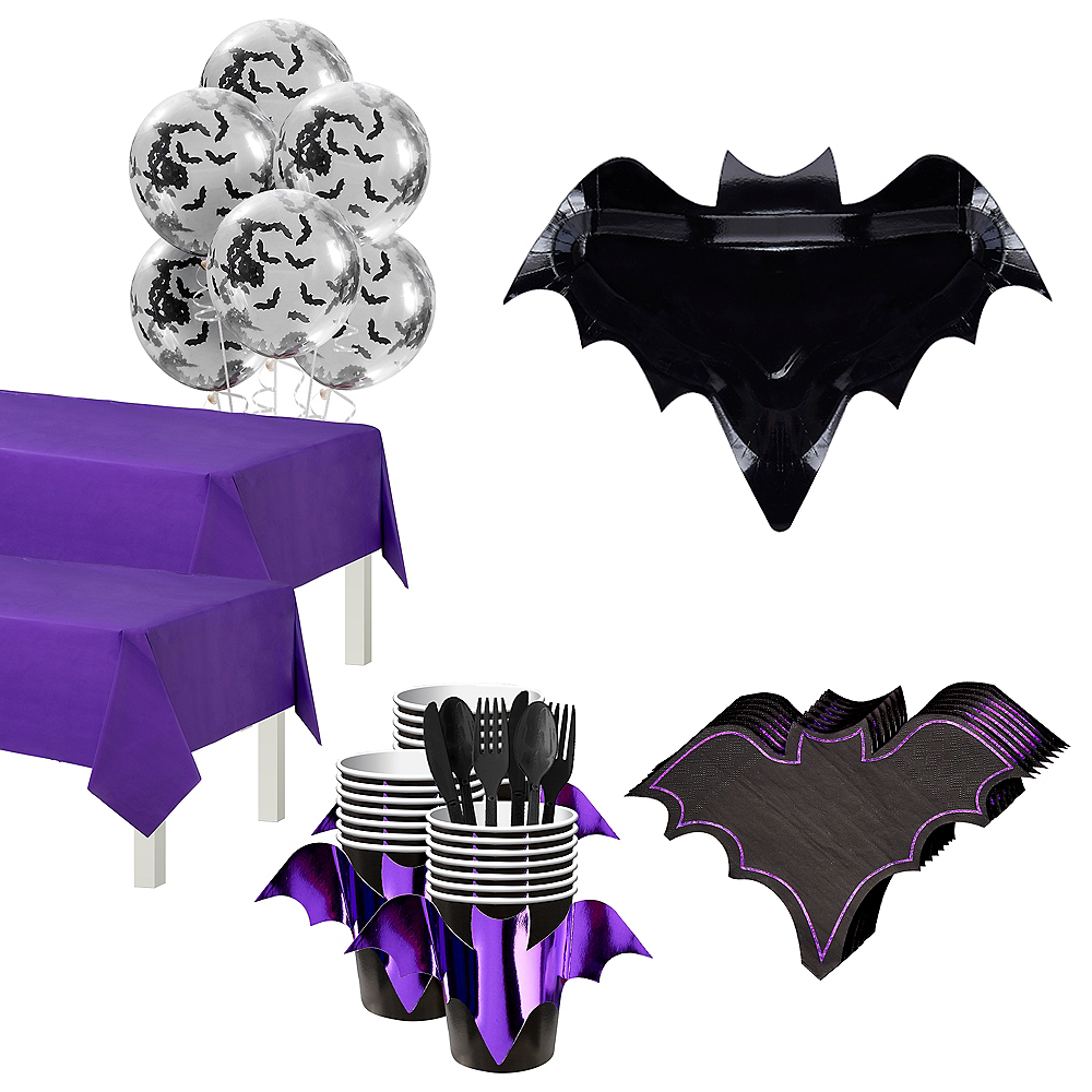 Ginger Ray Let's Get Batty Tableware Kit for 18 Guests Image #1