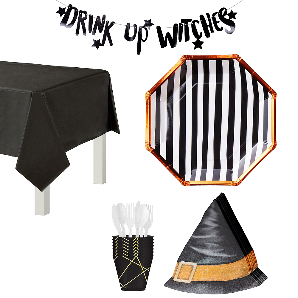 Ginger Ray Drink Up Witches Tableware Kit for 8 Guests Image #1