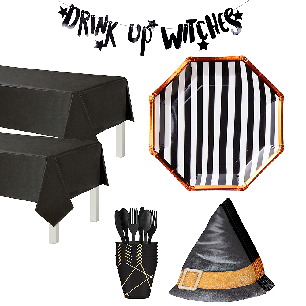 Ginger Ray Drink Up Witches Tableware Kit for 16 Guests Image #1