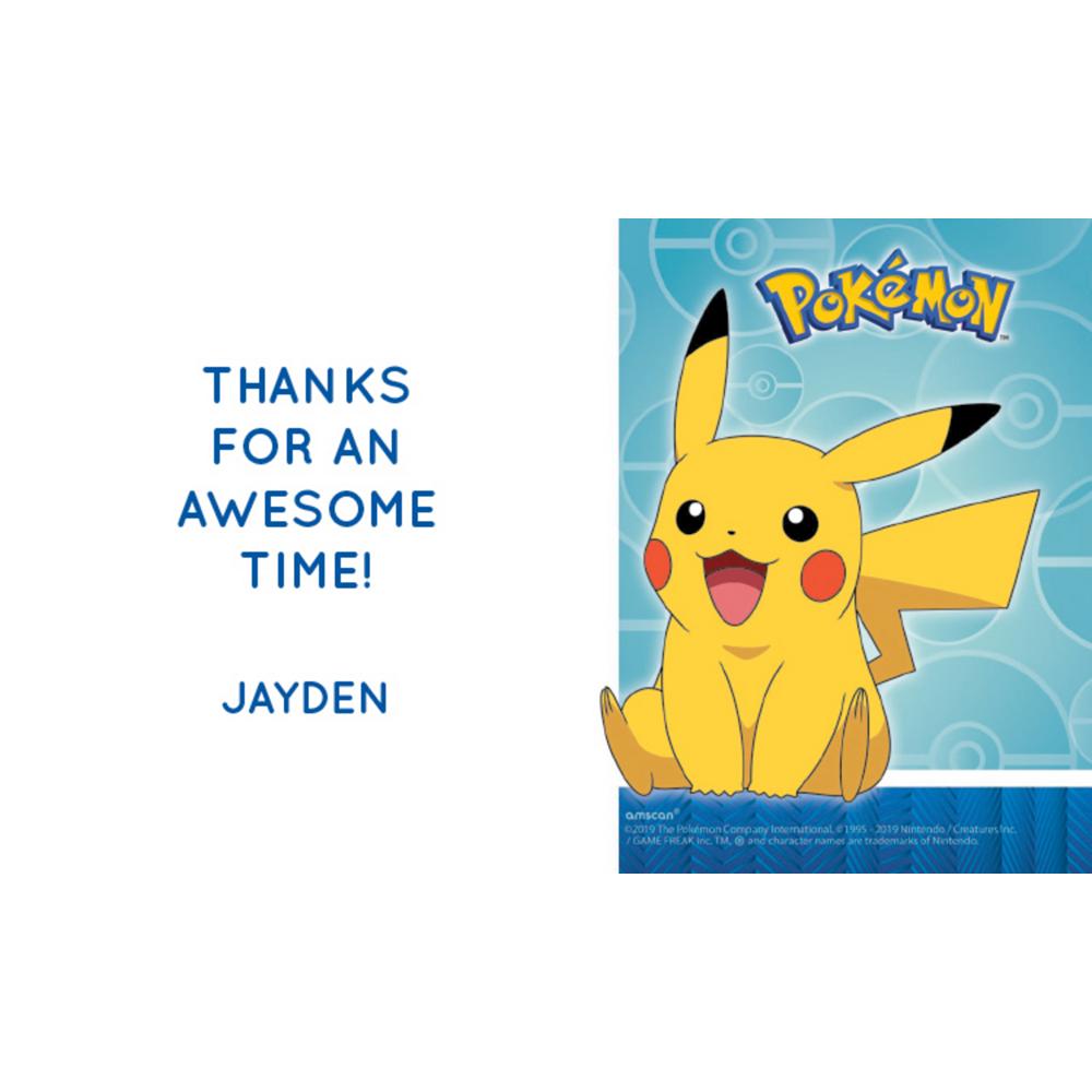 Custom Pokémon Classic Thank You Notes Image #1
