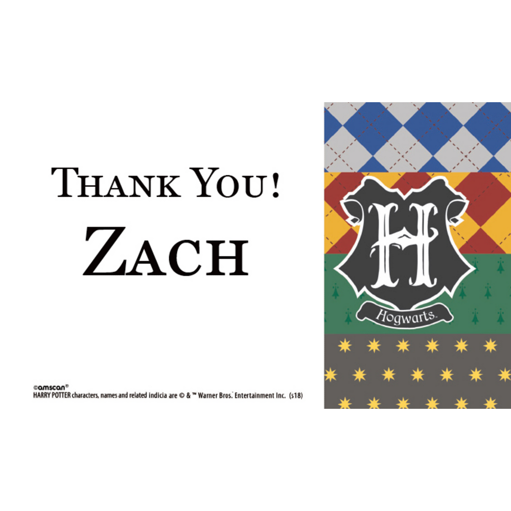 Custom Harry Potter Thank You Notes Image #1