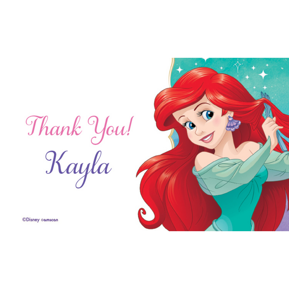 Custom The Little Mermaid Ariel Dream Big Thank You Notes Image #1