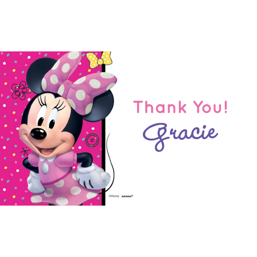 Custom Minnie Mouse's Happy Helpers Thank You Notes Image #1