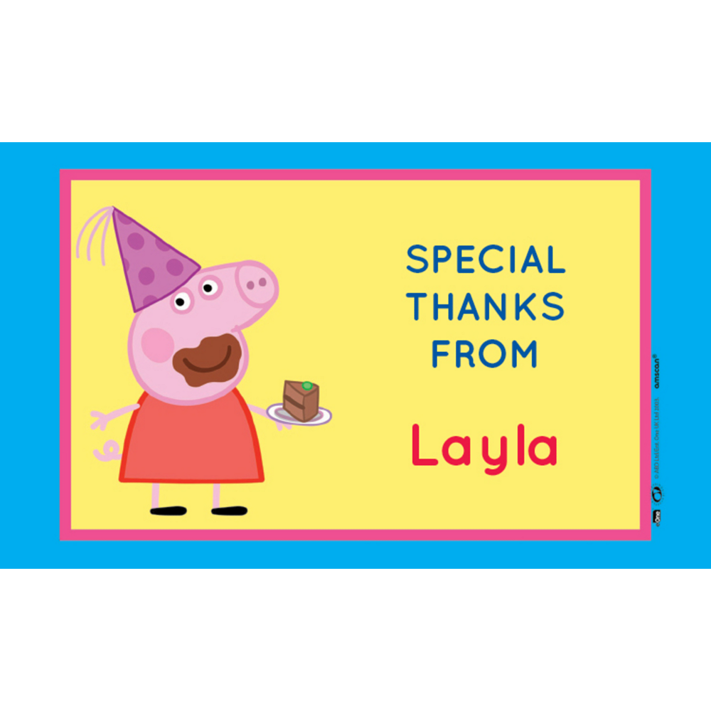 Custom Peppa Pig Thank You Notes Image #1