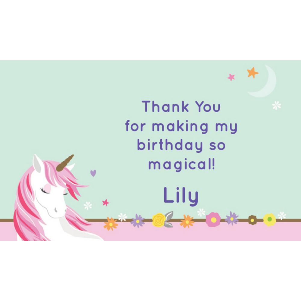 Custom Magical Unicorn Thank You Notes Image #1