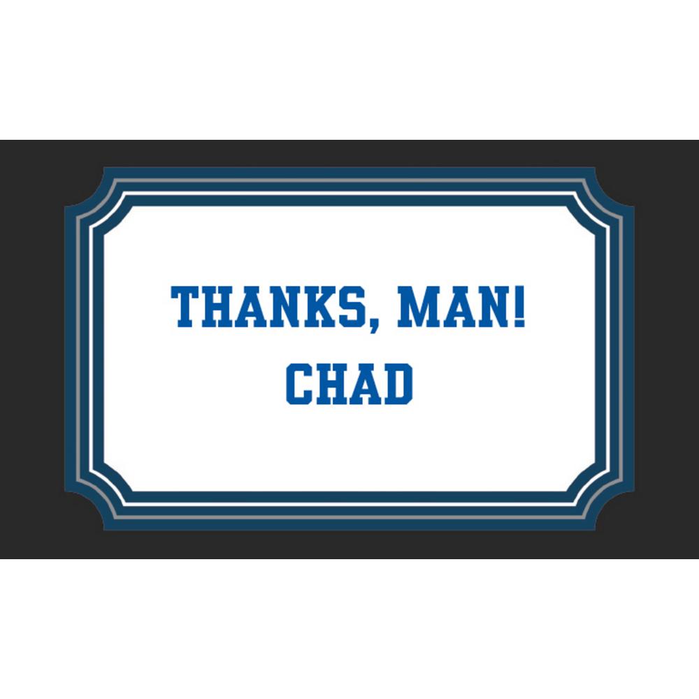 Custom Happy Birthday Man Thank You Notes Image #1