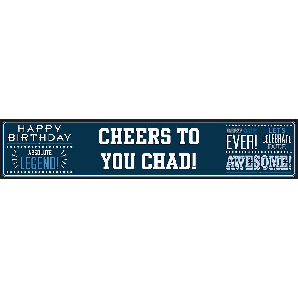 Custom Happy Birthday Man Table Runner Image #1