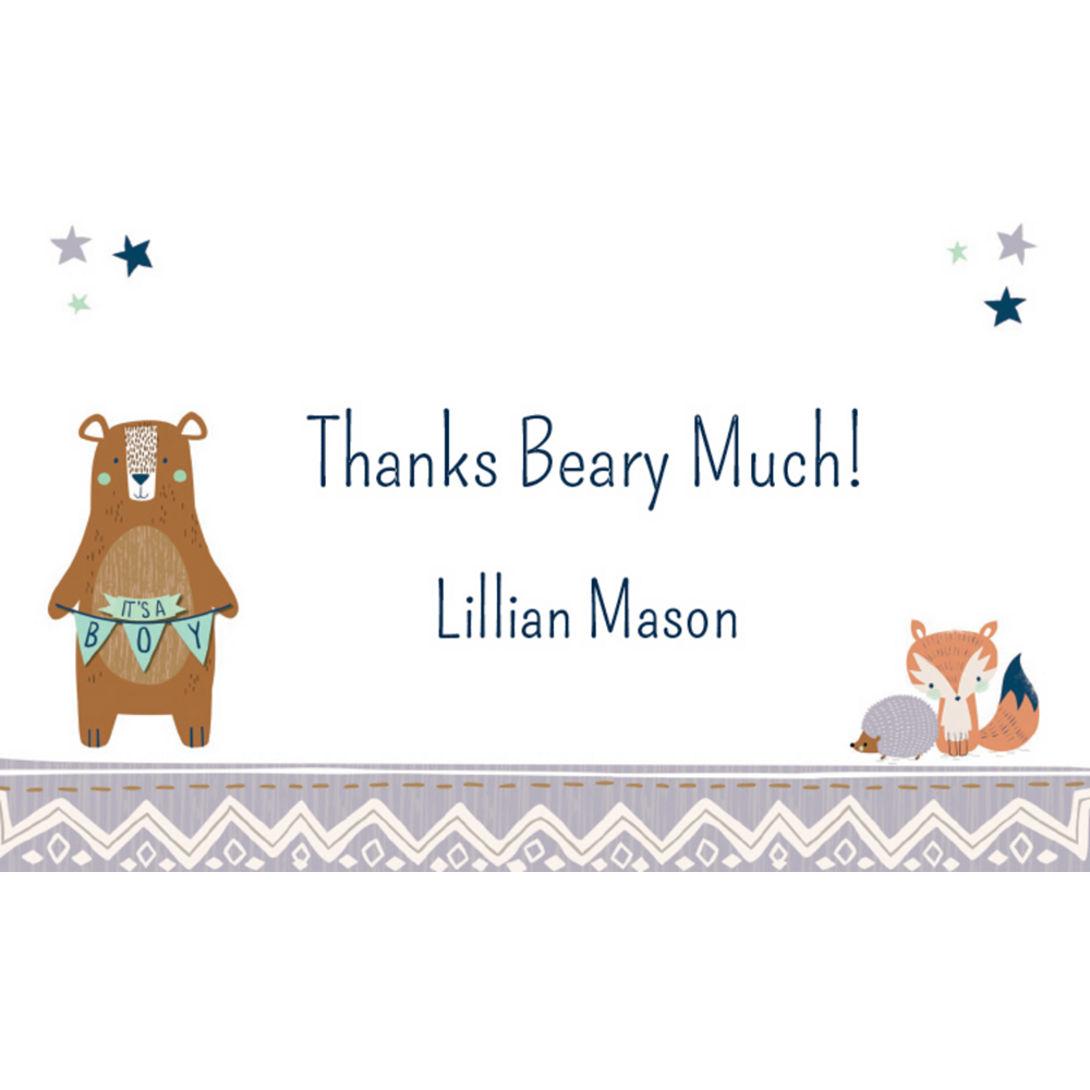 Custom Can Bearly Wait Thank You Notes Image #1