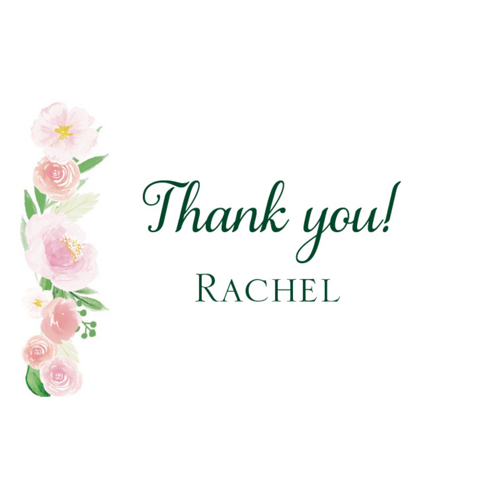 Custom Floral Baby Thank You Notes Image #1