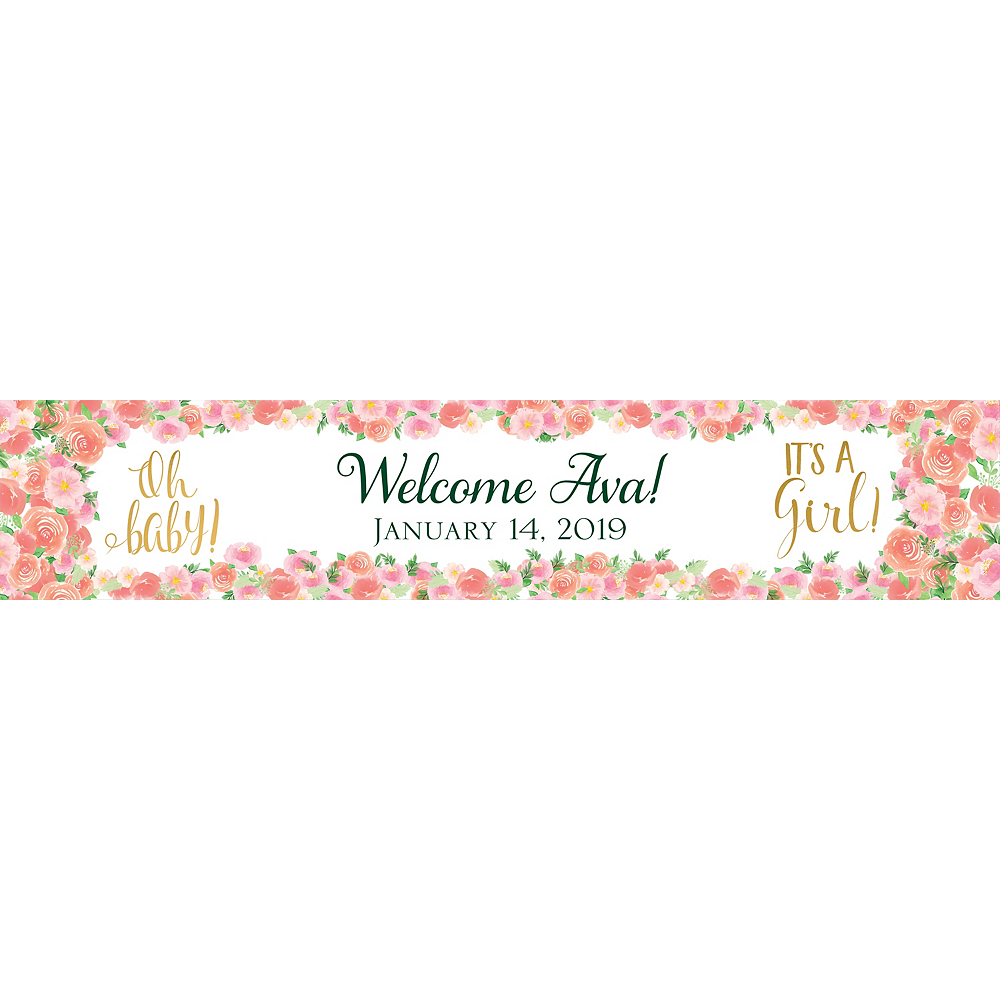 Custom Floral Baby Table Runner Image #1