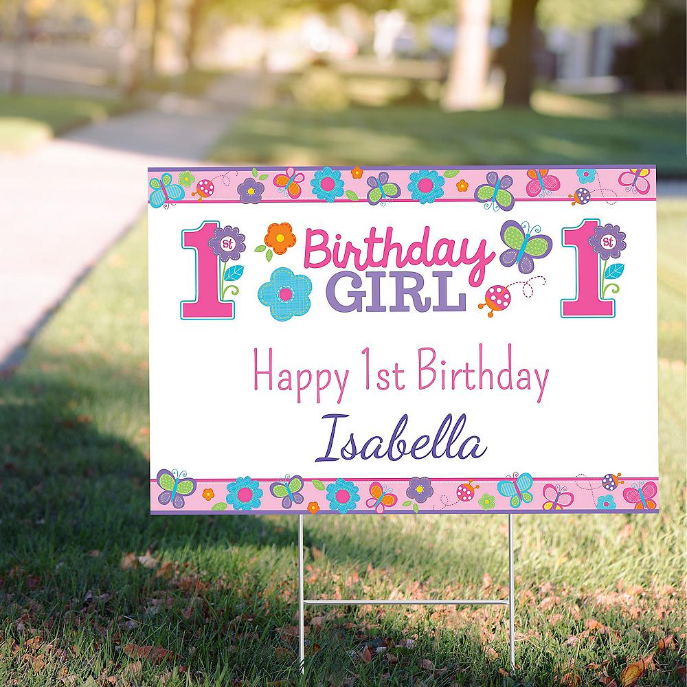Custom Sweet Birthday Girl Yard Sign Image #1