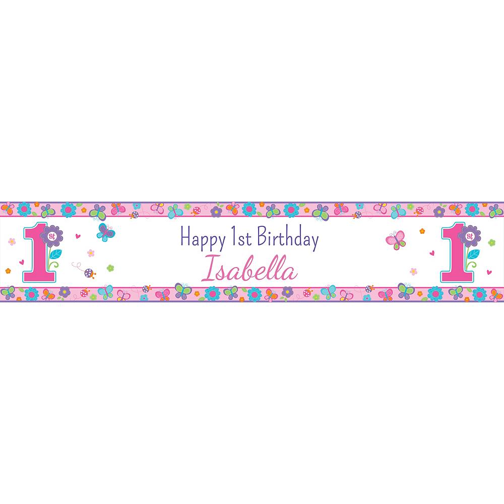 Custom Sweet Birthday Girl Table Runner Image #1