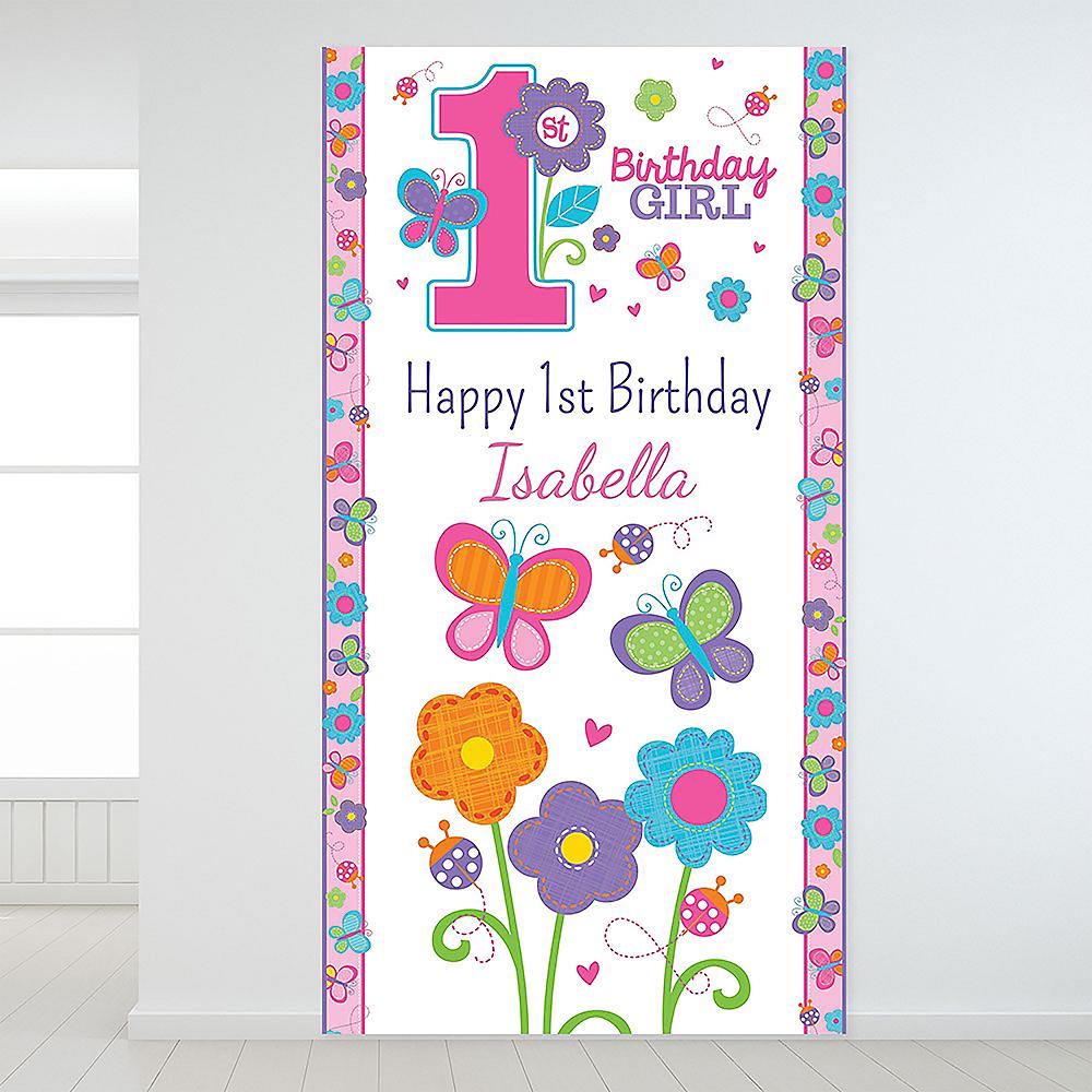 Custom Sweet Birthday Girl Backdrop Image #1