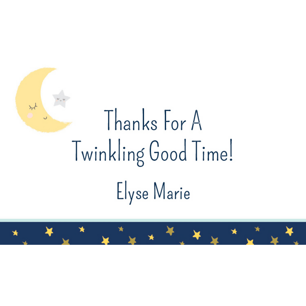 Custom Twinkle Twinkle Little Star Thank You Notes Image #1
