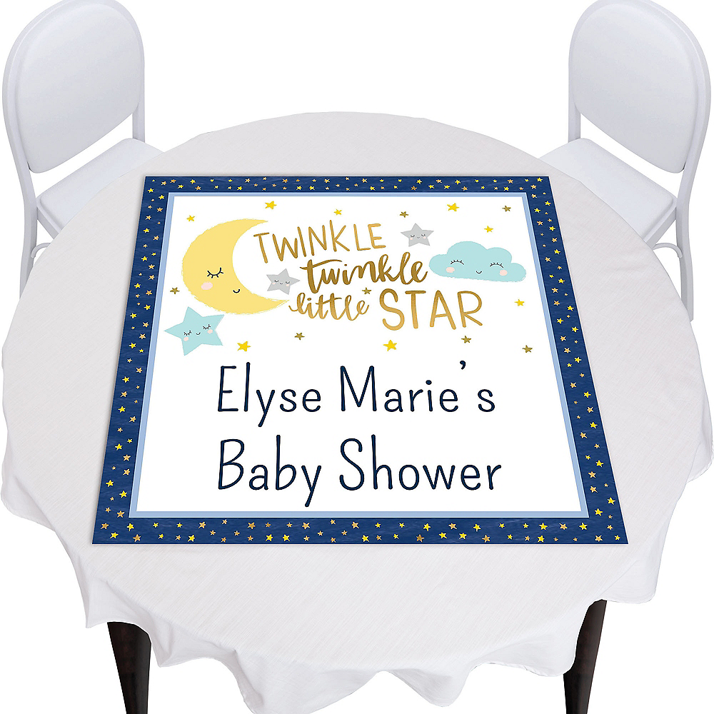 Custom Twinkle Twinkle Little Star Square Table Topper Image #1