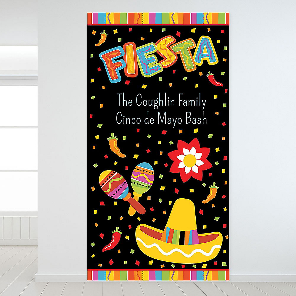 Custom Fiesta Fun Backdrop Image #1