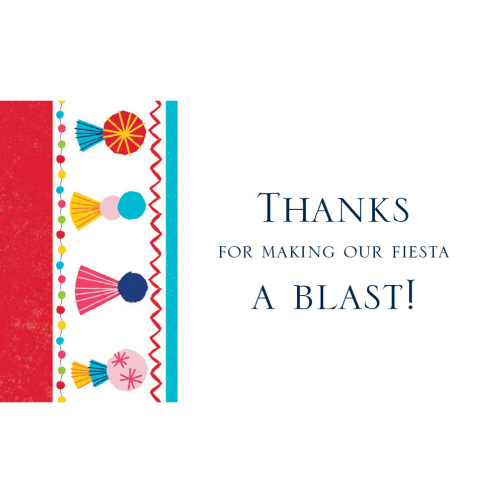 Custom Fiesta Time Thank You Notes Image #1