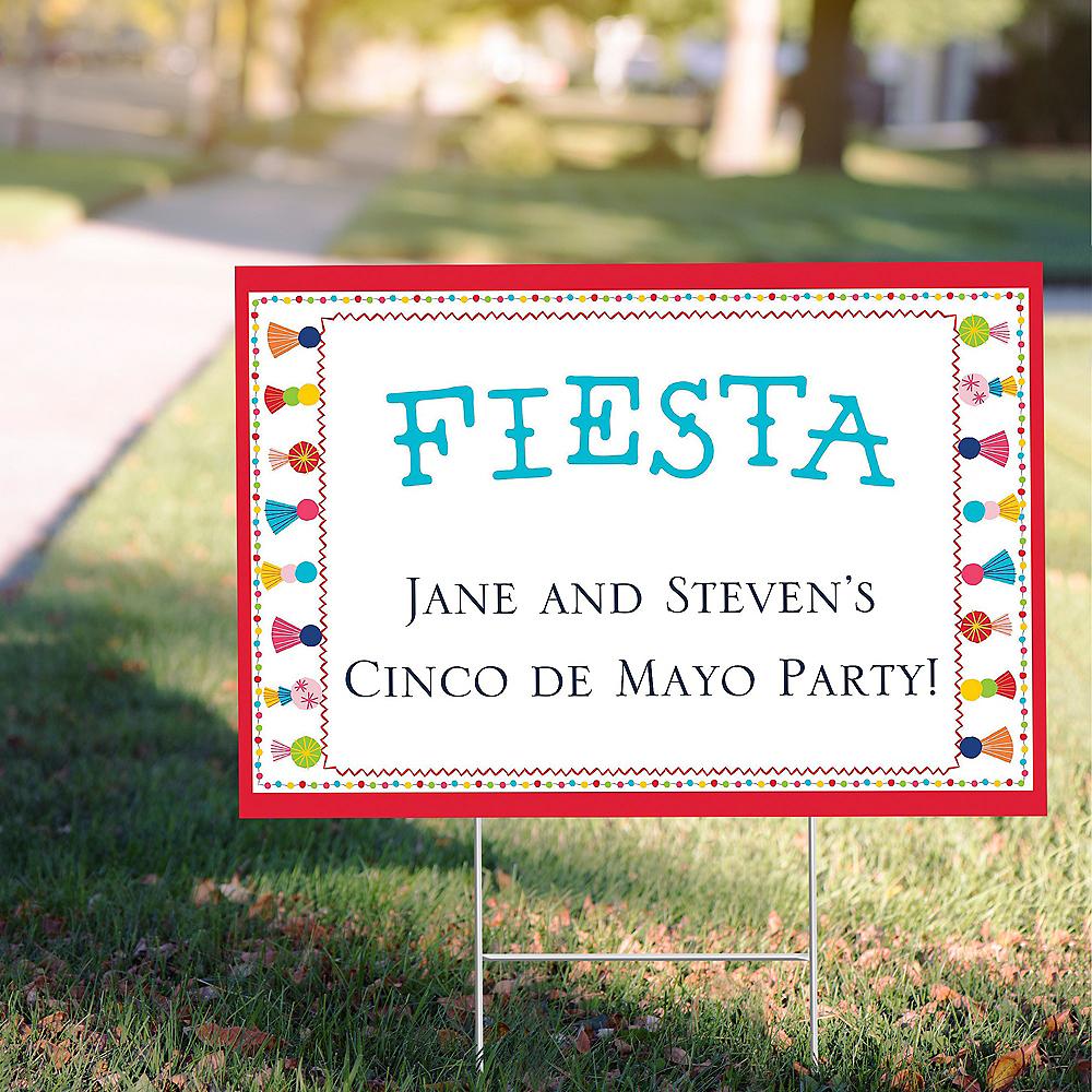 Custom Fiesta Time Yard Sign Image #1