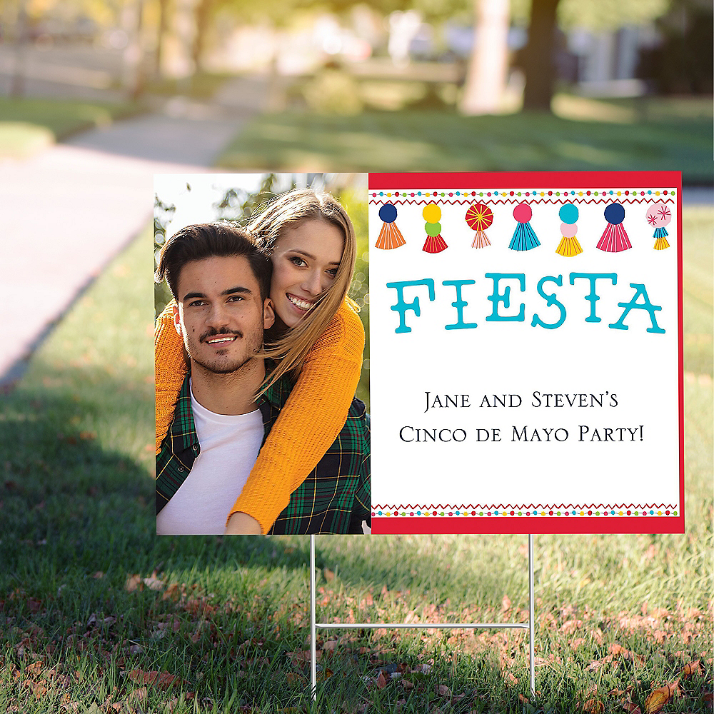 Custom Fiesta Time Photo Yard Sign Image #1