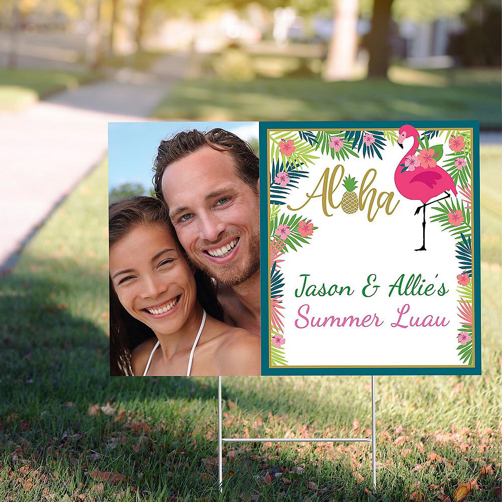 Custom Aloha Photo Yard Sign Image #1