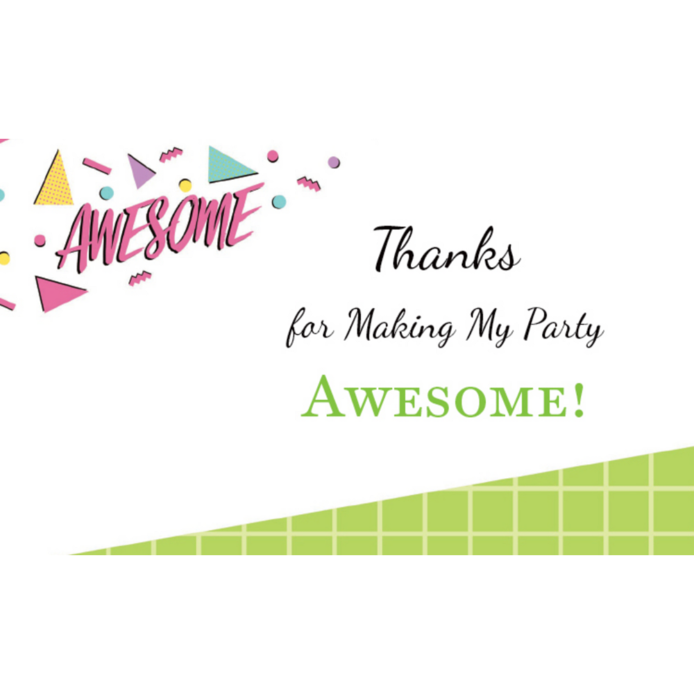 Custom Awesome Party Thank You Notes Image #1