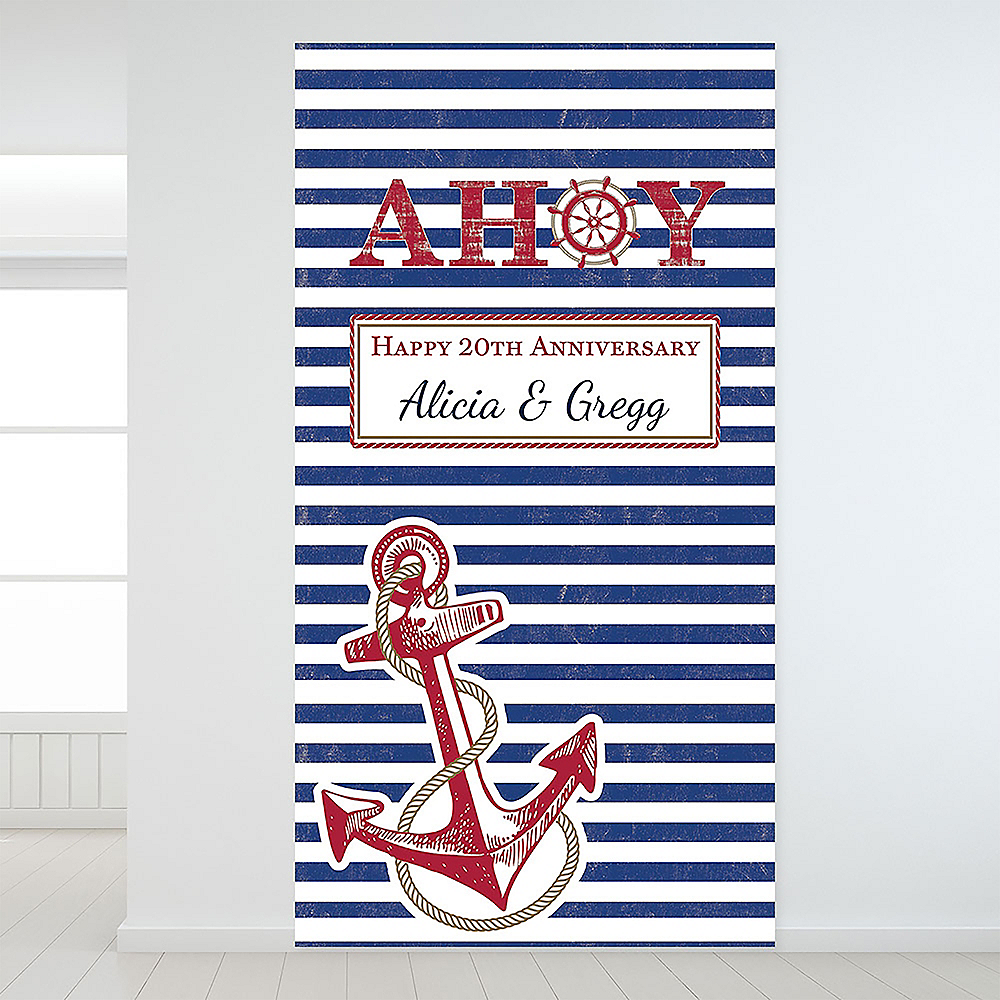 Custom Striped Nautical Backdrop Image #1