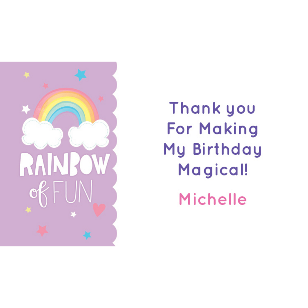 Nav Item for Custom Magical Rainbow Birthday Thank You Notes Image #1