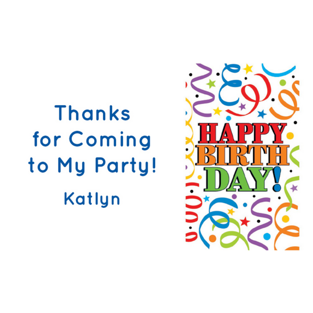Custom Colorful Birthday Thank You Notes Image #1
