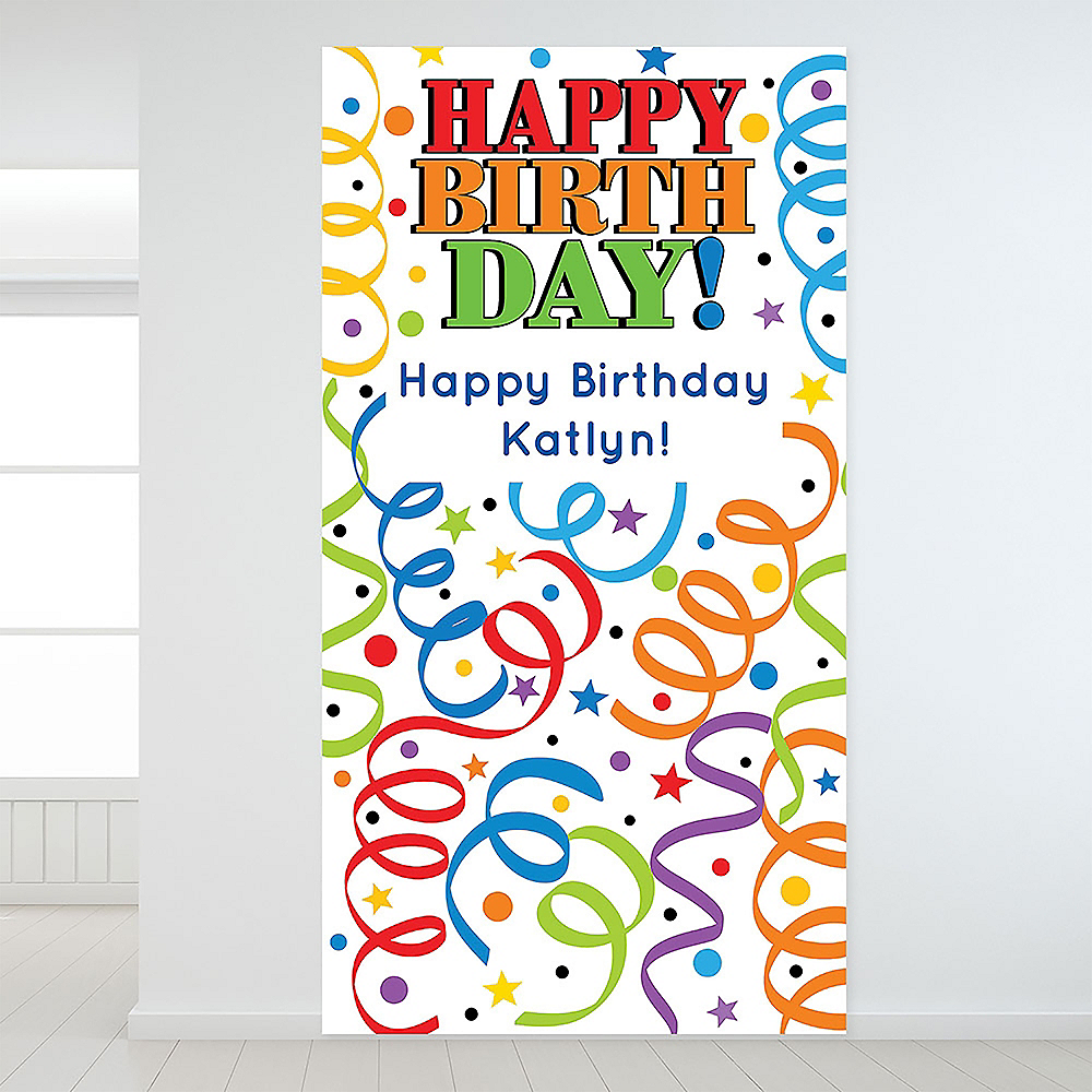 Custom Colorful Birthday Backdrop Image #1