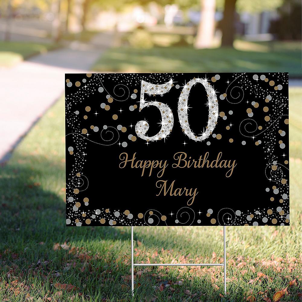 Custom Sparkling Celebration 50 Yard Sign Image #1