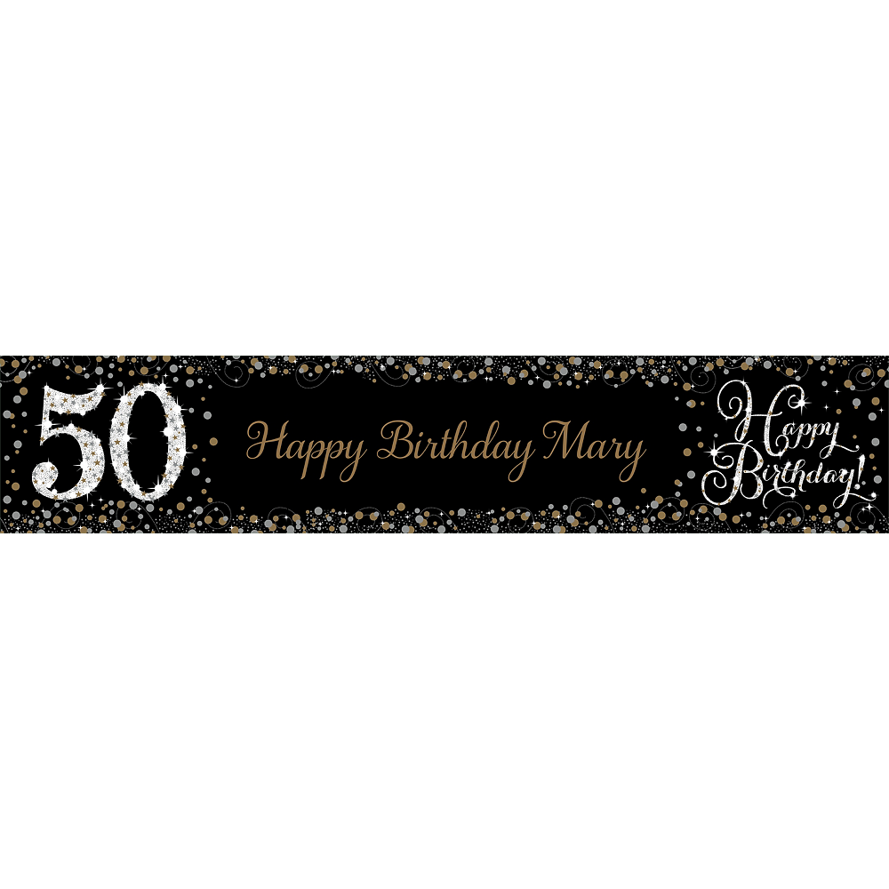 Custom Sparkling Celebration 50 Table Runner Image #1
