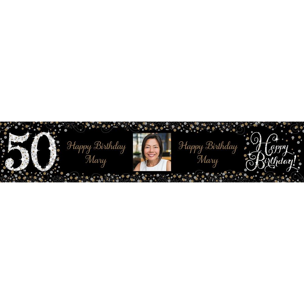 Custom Sparkling Celebration 50 Photo Table Runner Image #1