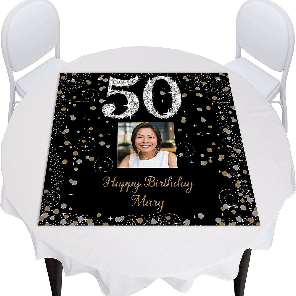 Custom Sparkling Celebration 50 Square Table Topper Image #1