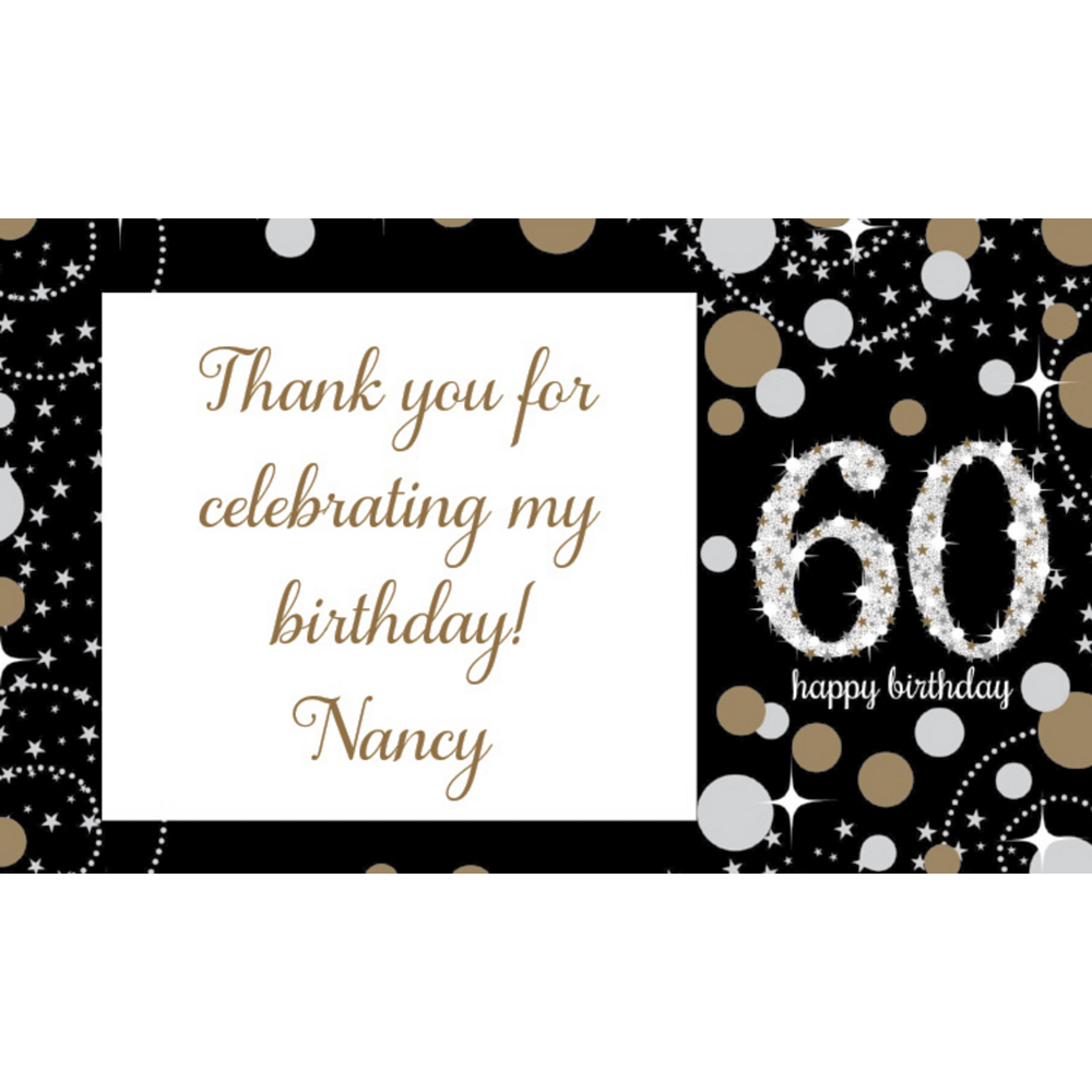 Custom Sparkling Celebration 60 Thank You Notes Image #1