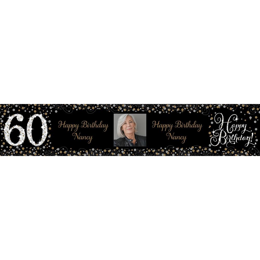 Custom Sparkling Celebration 60 Photo Table Runner Image #1